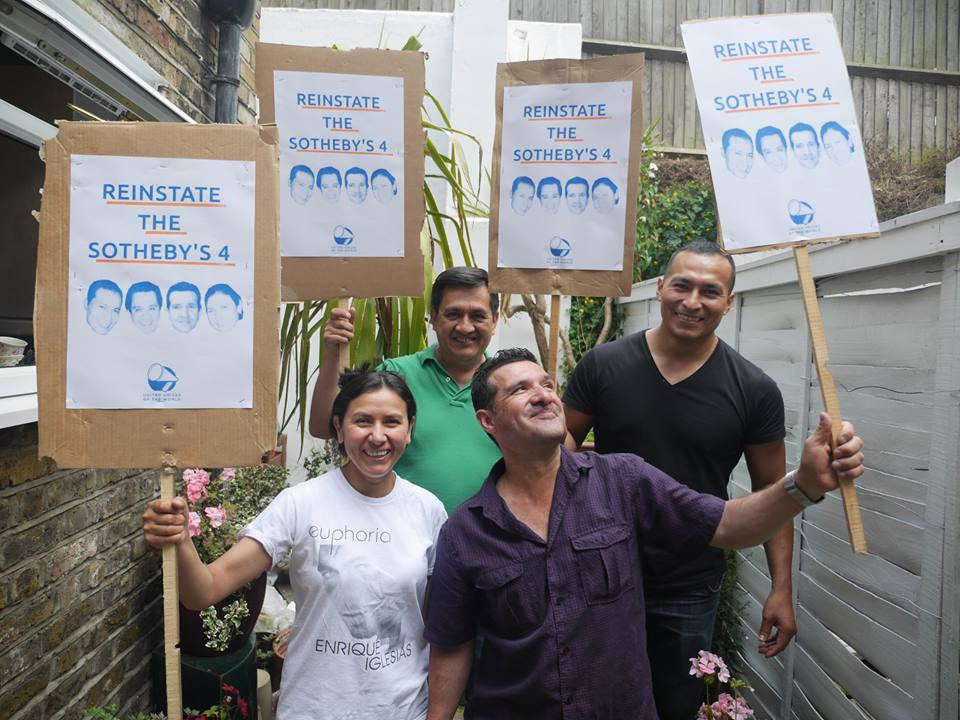 Sotheby's 4 with placards