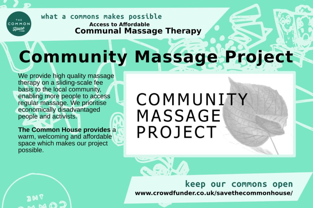 Community Massage Project - affordable communal massage therapy