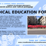 radical education forum - a group for educators dedicated to social justice and radical pedagogy