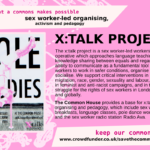 x:talk project - sex worker-led organising, activism and pedagogy