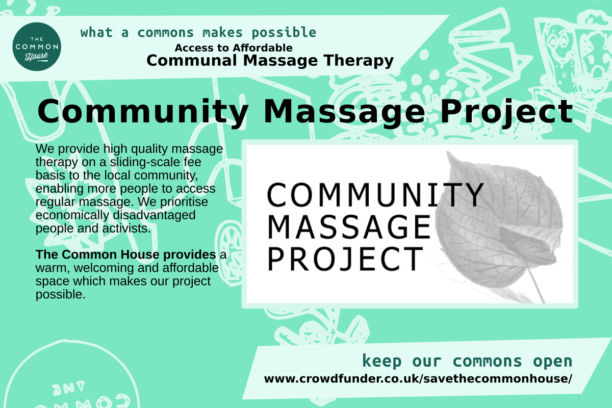 Community Massage Project - affordable communal massage therapy